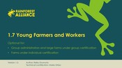 1.7 Young Farmers And Workers